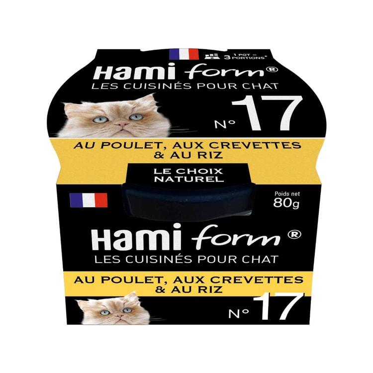 Comida húmeda para gatos adultos con pollo, gambas y arroz Hami Form