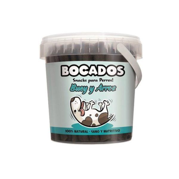 Snack para perros de buey y arroz Bocados