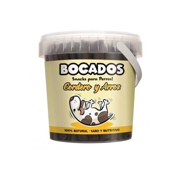 Snack para perros de cordero y arroz Bocados