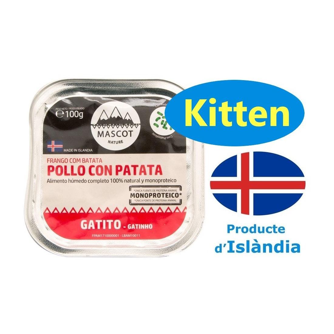 Comida húmeda para gatos Amcat Pollo y patatas