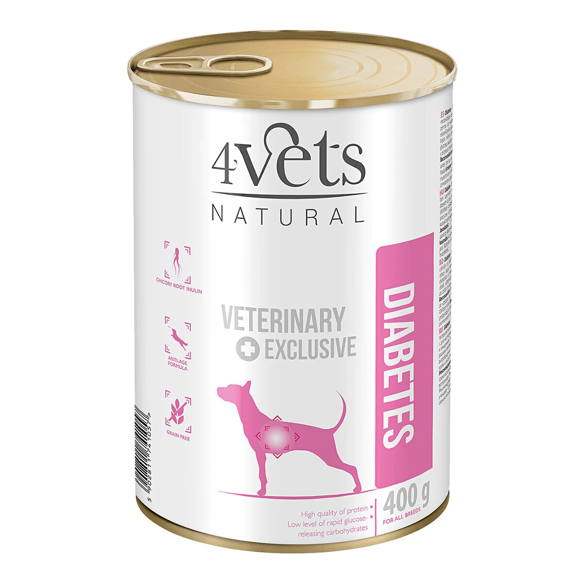 Comida para perros diabéticos 4vets natural