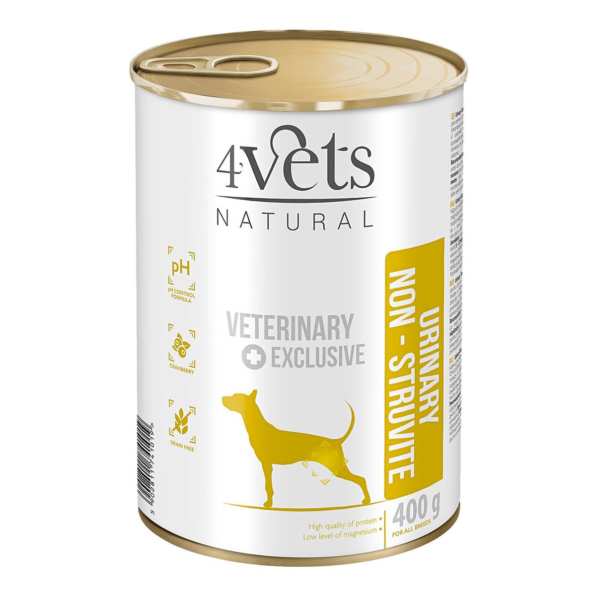 Comida para perros con trastornos del tracto urinario Urinary Non-Struvite 4vets natural