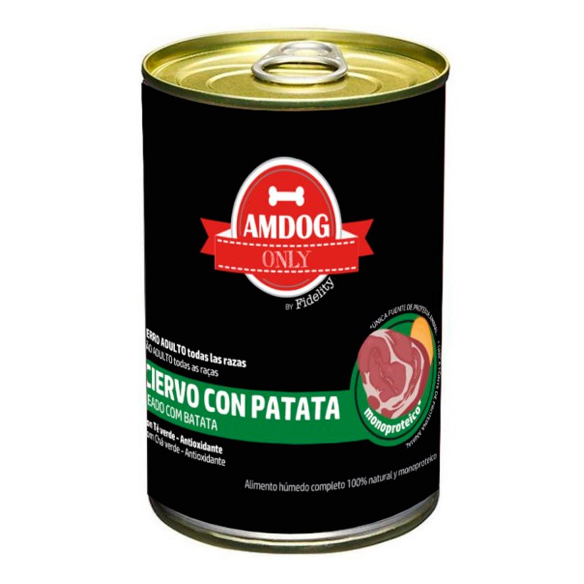 Lata para perros Amdog Ciervo con patatas